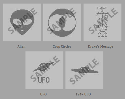 Product picture 5x Boot images for Mac OS X - Aliens gray