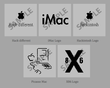 Product picture 5x boot images for Mac OS X- apple black (2)